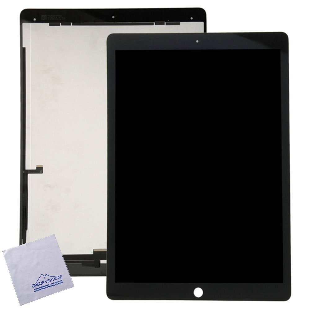 Lot of 2 LCD + Touch Screen Digitizer Assembly w installed flex IC chip for iPad pro 12.9 inch Black A1584, A1652 by Group Vertical