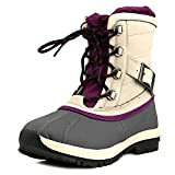 Bearpaw Women's Nelly Snow Boot, Grey Nylon, Polyurethane, 9 M