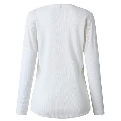 Vectry Rebajas Mujer Camiseta con Manga Larga Camiseta Lisa Camiseta Estampada Sudadera De Moda Sudadera Batata Blusa Elegante Blusa De Moda Sudadera Lisa: ...