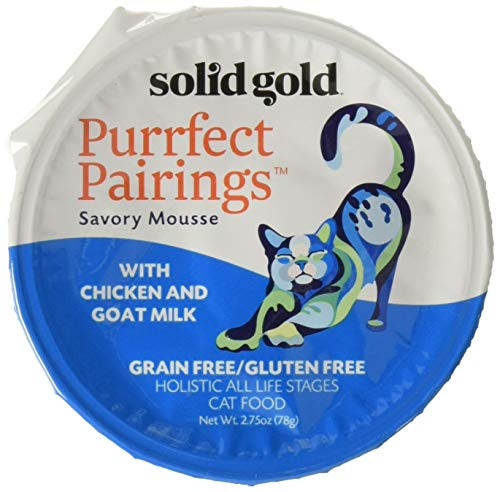Solid Gold – Holistic Delights Creamy Bisque – Grain & Gluten-Free Holistic Wet Cat Food in Individual Pouches For All…
