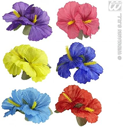 2 Hair Clips Purple Colored Hawaiian Flower Hair Clips