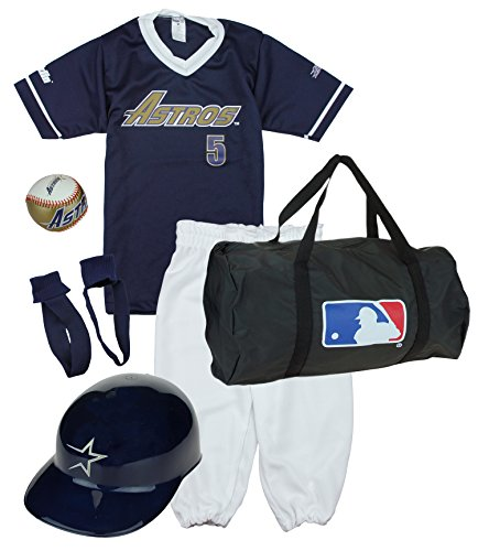 Franklin Houston Astros Baseball Youth Uniform Set Ages 7-10 Kids