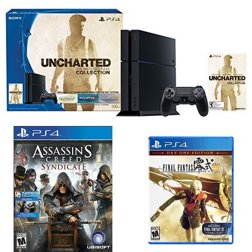 500GB PlayStation Console Uncharted Collection Assassins