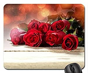With Love Mouse Pad, Mousepad (Flowers Mouse Pad, 10.2 x 8.3 x 0.12 inches)