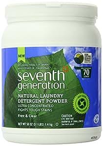 Seventh Generation Laundry Powder - 50 oz - Free & Clear