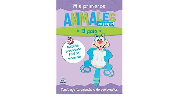 Mis primeros animales en papel: El gato (Trabajos manuales en papel series): Edimat Libros: 9788497861953: Amazon.com: Books