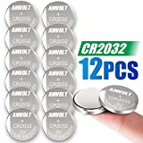 8 Pack AmVolt CR2032 Battery [Ultra Power] 20MM - Best 3 Volt Lithium Watch Batteries - 600mAh - 3V CMOS Coin Button Cell - Fob Car Remote Key CR 2032 [Expires 2023]