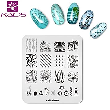 Amazon Kads Nail Art Stamping Plate Stainless Steel Stamp