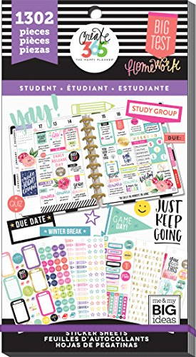 Me & My Big Ideas The The Happy Planner Value Pack Stickers, Fri Yay Student