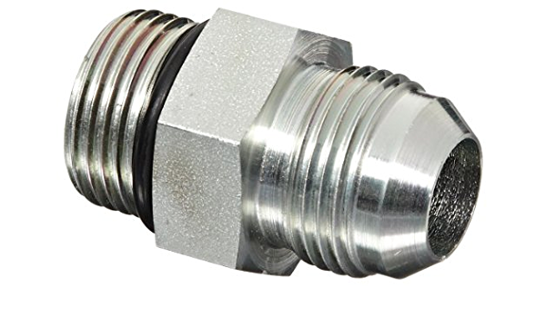 Adapter Eaton Aeroquip 202702-6-10S Steel Flared Tube Fitting 5//8 Male JIC x 3//8 O-Ring Boss Male