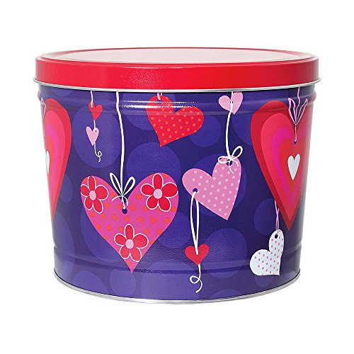 Hearts Gourmet Popcorn Gift Tin, Double Cheddar Cheese