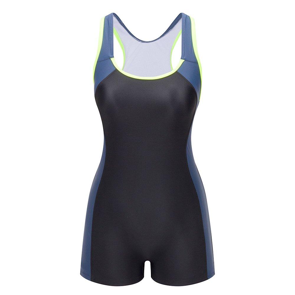 Lemef One Piece Swimsuit Boyleg Sport Swimwear for Women by Lemef (Image #1)