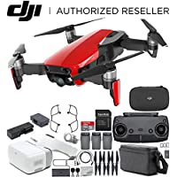 DJI Mavic Air Drone Quadcopter FLY MORE COMBO (Flame Red) + DJI Goggles FPV Headset VR FPV POV Experience Bundle