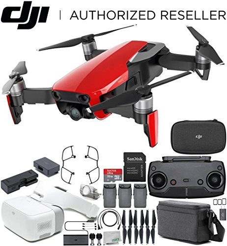 DJI-Mavic-Air-Drone-Quadcopter-FLY-MORE-COMBO-Flame-Red-DJI-Goggles-FPV-Headset-VR-FPV-POV-Experience-Bundle