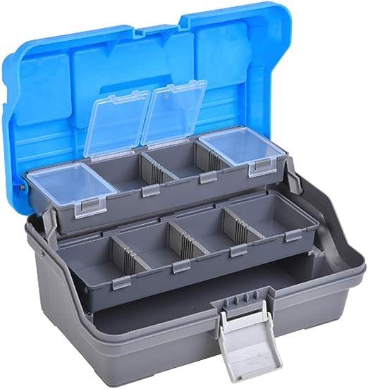 Dyda6 Caja de Aparejos de Pesca portátil, 2 bandejas voladizas ...