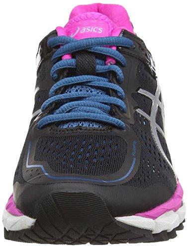 Gel Kayano Shoes Silver 9093 22 Black Pink Asics Glow Black Women's Running 6SZq6dT