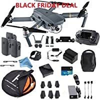 DJI Mavic Pro Fly More Combo Safety Bundle, extra 80 cm Portable landing pad and DigitalAndMore Lens Hood, Landing Gear and More (Black Friday / Cyber Monday Deal!)