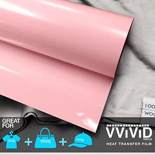 VViViD Light Pink Heavy-Duty Iron-on Heat Transfer Vinyl Film 12