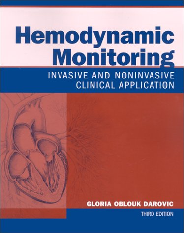 Hemodynamic Monitoring: Invasive and Noninvasive Clinical Application by Saunders