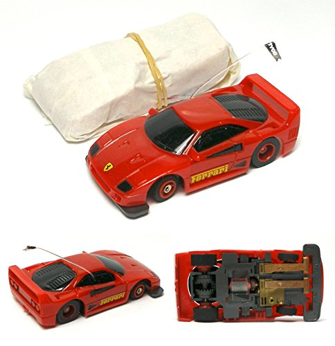 1992 TYCO Slotless TCR Set Only Wide Pan FERRARI F-40 Street Ready Red HO Slot Car (64th Scale Red)