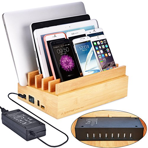 Avantree 100W 10 Ports Bamboo Multiple Devices USB Charger & Charging Station (100w Universal Ac Laptop)