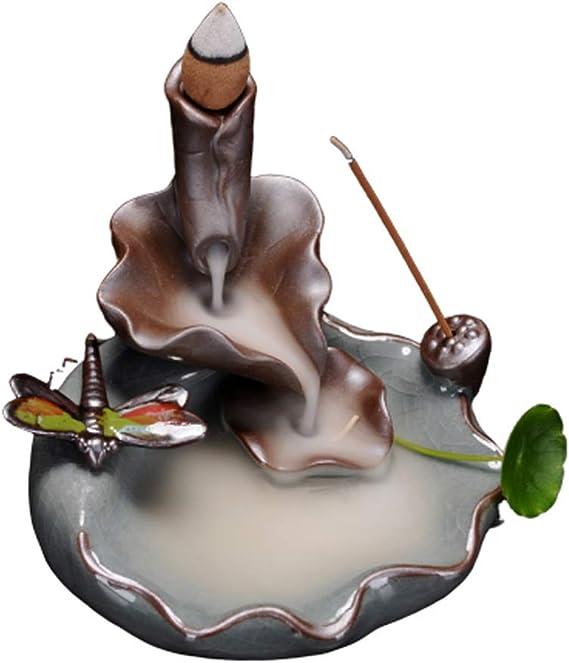 芳香器・アロマバーナー 逆流香炉陶器戻る香炉お香スティックホルダーホームデコレーションアロマセラピー アロマバーナー芳香器