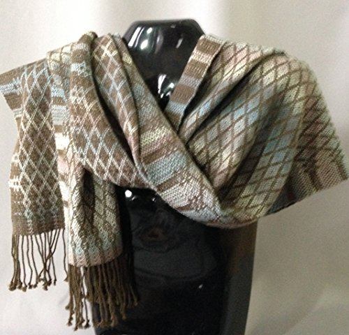 Handwoven Alpaca/Wool Shawl/Scarf by Whirlwind Designs