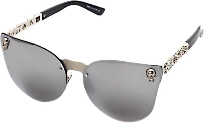 Shiratori Sunglasses for Men Women, Classic Rimsless Eyewear with Case, 100% UV Protection