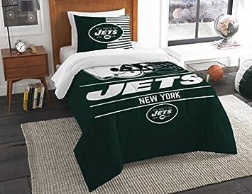 Amazon.com: New York Jets Bedding Set Sham NFL 2 Piece Twin Size 1 ...