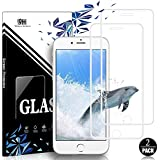 EESHELL for iPhone 8 Plus/7 Plus/6S Plus/6 Plus Screen Protector, [2 Pack] 9H Hardness Premium HD Clarity Full Coverage Tempered Glass, Case Friendly, Anti-Bubble Film for iPhone 8P/7P/6SP/6P-White