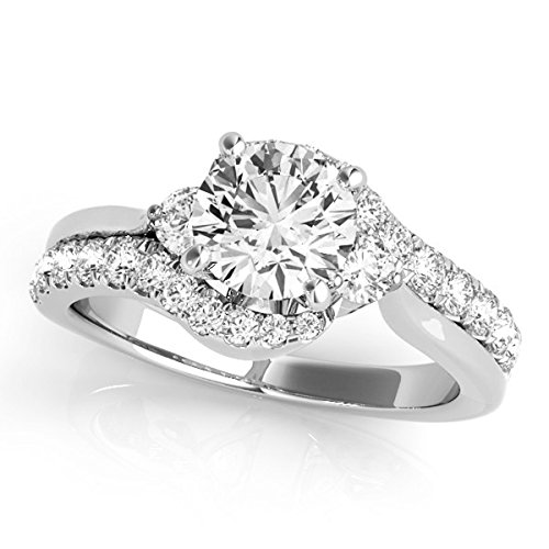MauliJewels 1.25 Ct. Halo Antique Design Engagement Bridal Set Diamond Ring Crafted In 14k Solid White Gold