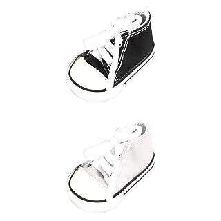 Fenteer 2 Paia di Sneakers Stringate in Tela per Bambole Americane - 18 Pollici