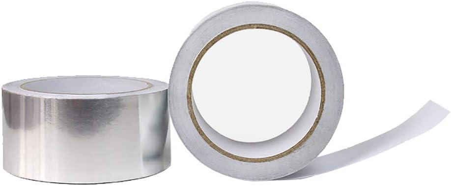 Thickness 0.05mm x50m Anrux Rouleau de ruban aluminium pour isolation de tuyau de climatisation et plus encore Argent/é brillant 50 m 1cm L W