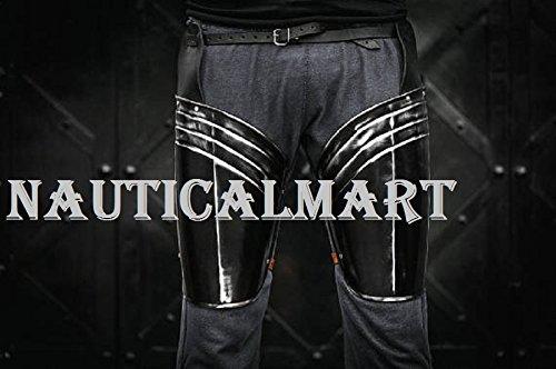 NauticalMart Renaissance Armor Blackened Upper Legs Armor Steel Leg ARMOR Handcrafted Custom Made by NAUTICALMART