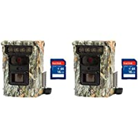 Browning Trail Cameras Defender 850 Bluetooth IR Game Camera, 2 Pack + SD Cards