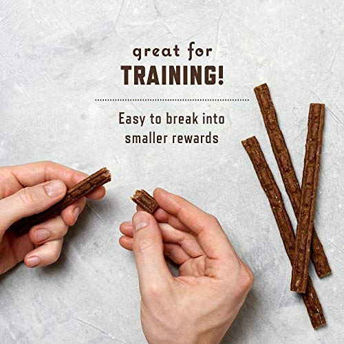 Rocco & Roxie Gourmet Jerky Dog Treats - Slow Smoked, Delicious, Tender and Healthy 6 Jerky Sticks - Choose Beef, Chicken or Turkey - 16 oz. Bag (Chicken)