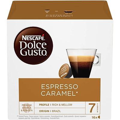 NESCAFÉ Dolce Gusto Espresso Caramel Coffee, Paquete of 3 (Total 48 Cápsulas)