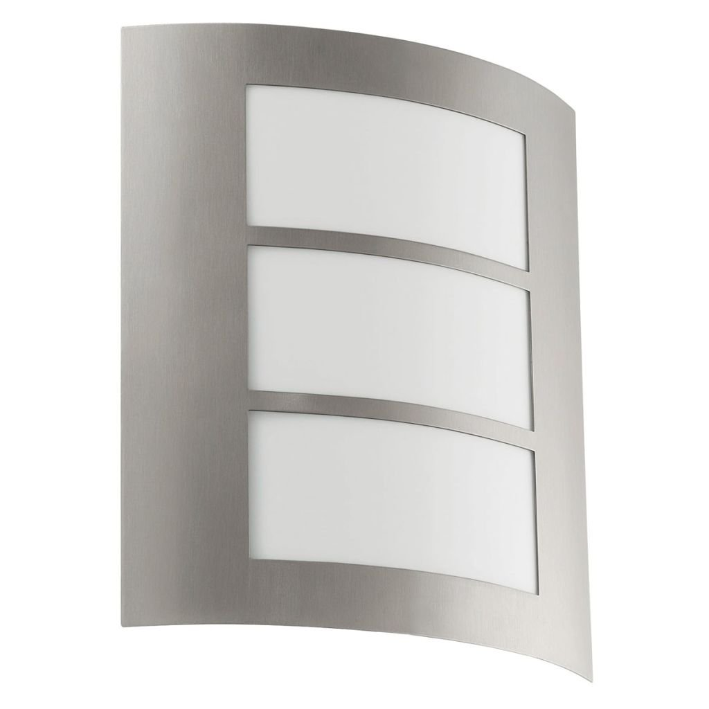 Garden EGLO CITY Outdoor Wall Light E27 Stainless Steel 15 W Stainless Steel Patio Entrance IP33 I Outdoor Lighting Wall Light for Outdoor