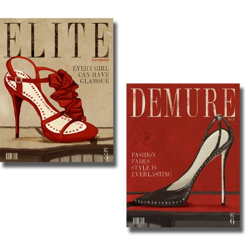 Demure & Elite Red Fashion Magazines by Hakimpour-Ritter