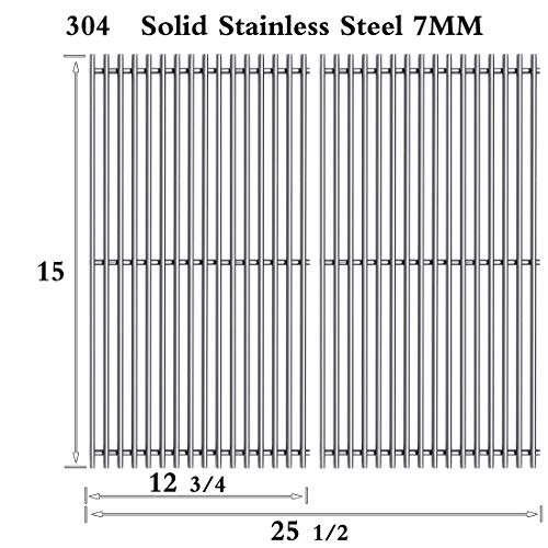 Htanch SF4362(2-Pack) Stainless Steel Cooking Grid Grates Replacement for Select Gas Grill Models by Broil King, Broil-Mate,Huntington and Sterling Gas Models Set of 2