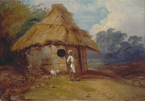 George Chinnery - A Warrior Outside His Hut - Extra Large - Matte - - Foto Hut