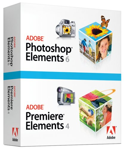 amazon com adobe photoshop elements 6 adobe premiere elements 4 rh amazon com Adobe Photoshop 4.0 Version Adobe Photoshop Album 2.0