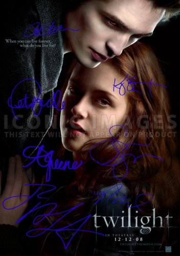 Twilight Movie Print  Cast Robert Pattinson Kristen Stewart
