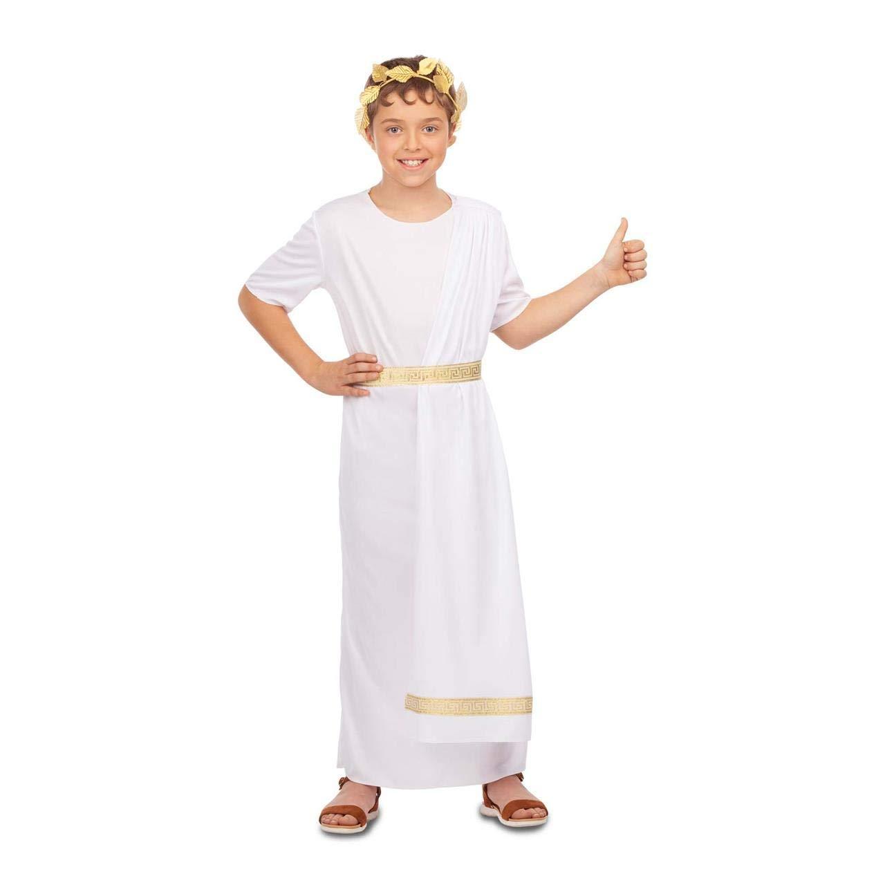 My Other Me Disfraz de Emperador Romano Blanco para niño: Amazon ...