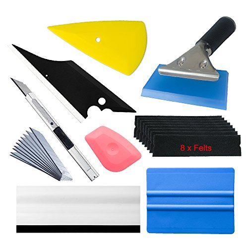 Professional Vinyl Wrap Kit Window Tint Tools for Vehicle Film Including Felt Squeegee,Scraper,Knife Blade