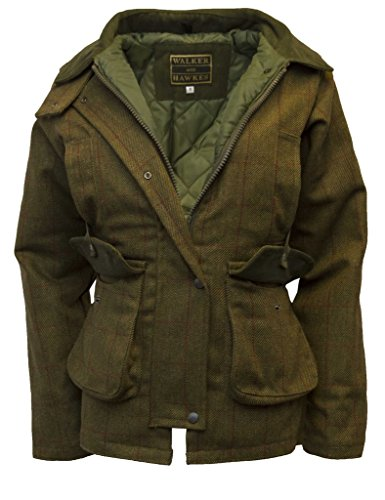 Walker and Hawkes Women's Derby Tweed Shooting Country Jacket 14 Red Stripe