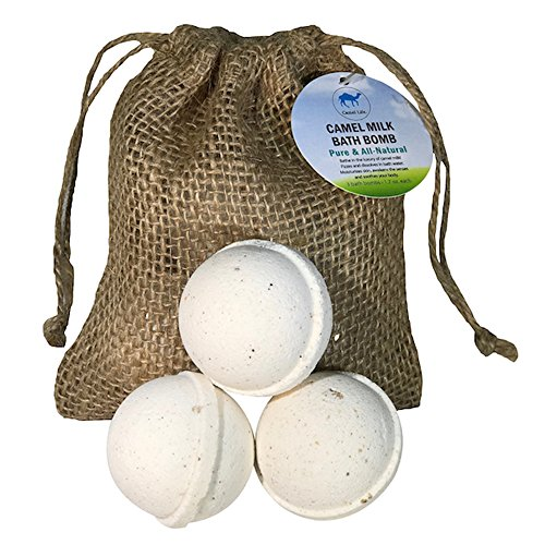 Skin Softening Milk Bath - Camel Life / Camel Milk Bath Bombs – 3 pack / rejuvenating alpha-hydroxy acids, skin softening Bath Bomb / bag of 3 luxurious natural Bath Bombs / natural antibacterial / 3 pack – 1.7 oz each