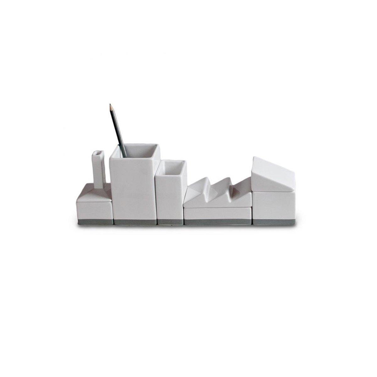 SELETTI Porta-Cancelleria in Porcellana Desktructure-La Fabbrica Cm.33X6,5 H.11