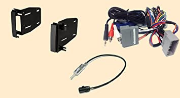 radio stereo install double din dash kit + steering control wiring + canbus  wire harness + antenna adapter for - jeep commander (08-10), compass  (09-12), grand cherokee (08-10), liberty (08-12), patriot (09-12), wrangler  ( - amazon.com  amazon.com