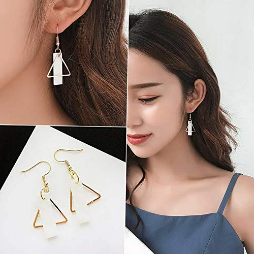 Rhame 1 Pair Crystal Geometric Pearl Drop Dangle Hoop Hook Stud Women Tassel Earrings | Model ERRNGS - 20192 | -
